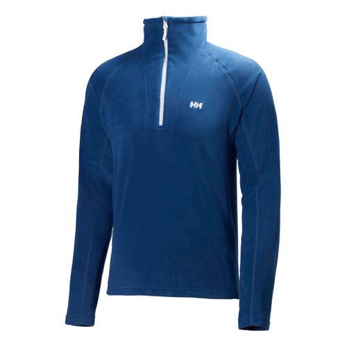 Mens Helly Hansen Mount Prostretch 1/2 Zip Long Sleeve Technical Tops - Night Blue S ...