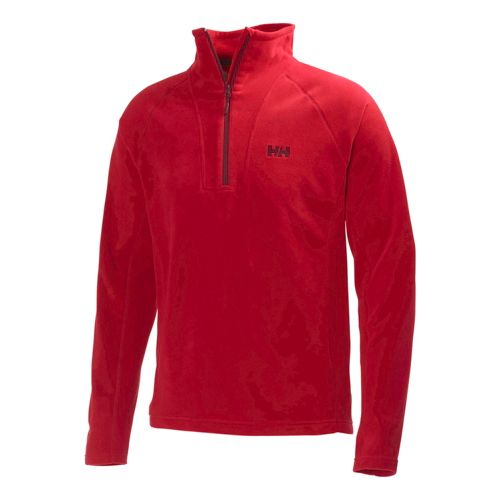 Mens Helly Hansen Mount Prostretch 1/2 Zip Long Sleeve Technical Tops - Red L