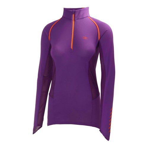 Womens Helly Hansen Pace 2 Long Sleeve 1/2 Zip Technical Tops - Essential Purple XS ...