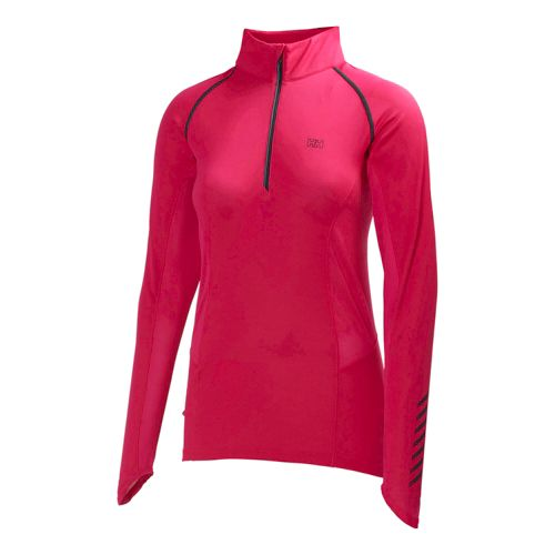 Womens Helly Hansen Pace 2 Long Sleeve 1/2 Zip Technical Tops - Magenta M