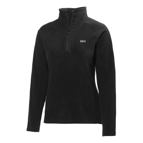 Womens Helly Hansen Mount Prostretch 1/2 Zip Long Sleeve Technical Tops - Black XS