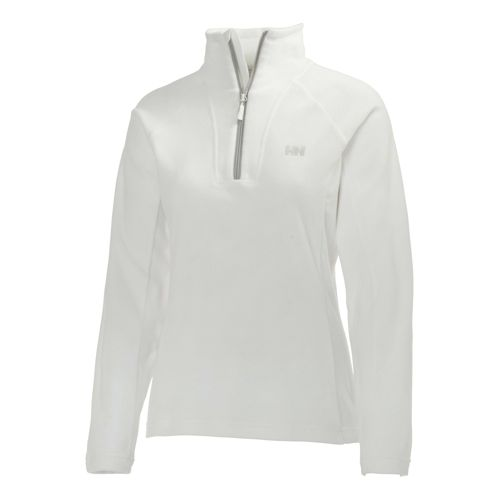 Womens Helly Hansen Mount Prostretch 1/2 Zip Long Sleeve Technical Tops - White S