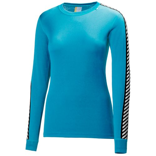 Womens Helly Hansen HH Dry Original Long Sleeve Technical Tops - Winter Aqua M