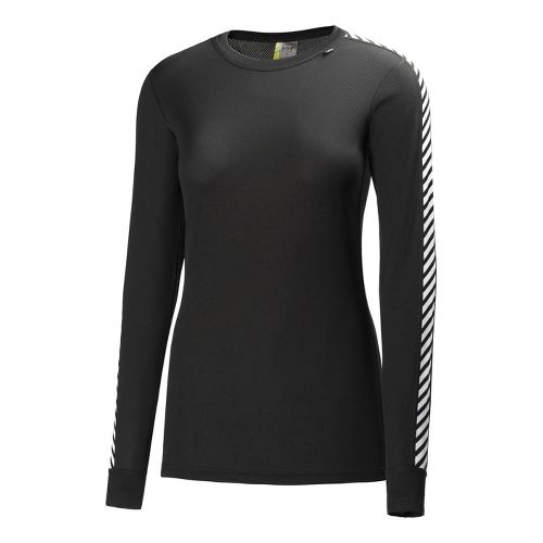 Womens Helly Hansen HH Dry Original Long Sleeve No Zip Technical Tops - Black XL ...
