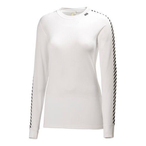 Womens Helly Hansen HH Dry Original Long Sleeve No Zip Technical Tops - White L ...