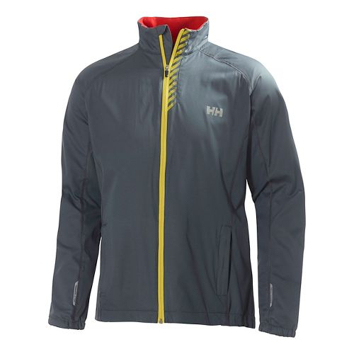 Mens Helly Hansen Pace Outerwear Jackets - Arctic Grey XXL