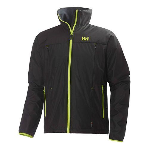 Mens Helly Hansen Regulate Midlayer Running Jackets - Lime L