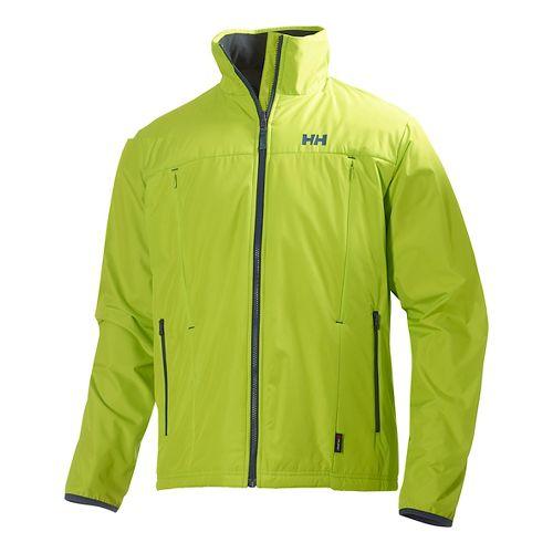 Mens Helly Hansen Regulate Midlayer Running Jackets - Lime M