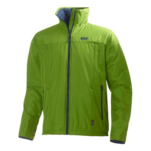 Mens Helly Hansen Regulate Midlayer Running Jackets - Park Green XL