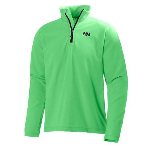 Mens Helly Hansen Daybreaker 1/2 Zip Fleece Long Sleeve Technical Tops - Paris Green S ...
