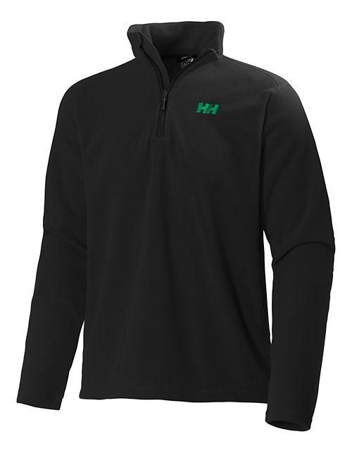 Mens Helly Hansen Daybreaker 1/2 Zip Fleece Long Sleeve Technical Tops - Black XXL