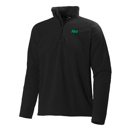 Mens Helly Hansen Daybreaker 1/2 Zip Fleece Long Sleeve Technical Tops - Black 4XL
