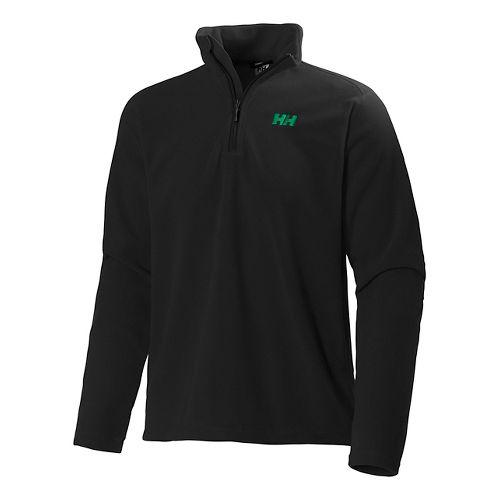 Mens Helly Hansen Daybreaker 1/2 Zip Fleece Long Sleeve Technical Tops - Black L
