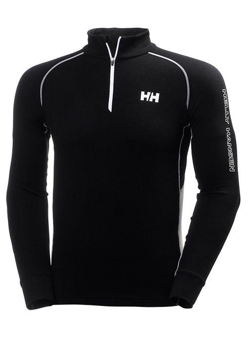 Mens Helly Hansen HH Warm High Neck 1/2 Zip Long Sleeve Technical Tops - Black/White XXL