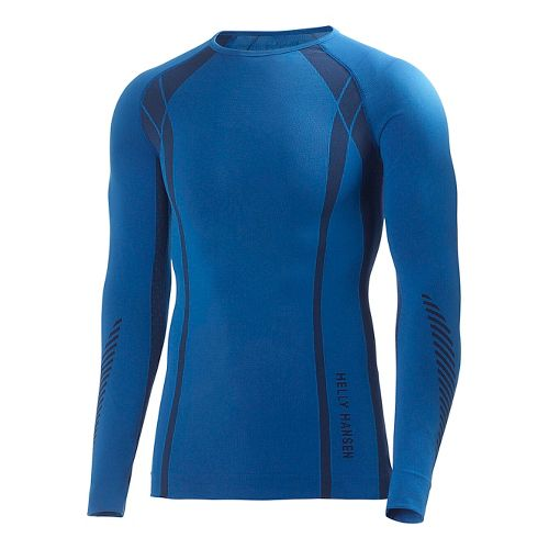 Mens Helly Hansen HH Dry Elite Long Sleeve No Zip Technical Tops - Cobalt M ...