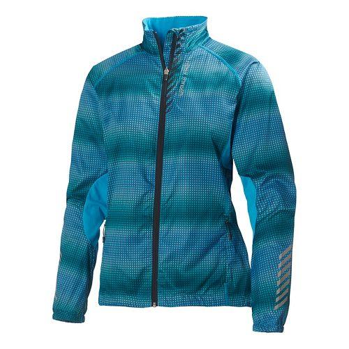 Womens Helly Hansen Pace Running Jackets - Frozen Blue XL