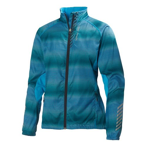 Womens Helly Hansen Pace Running Jackets - Frozen Blue XS