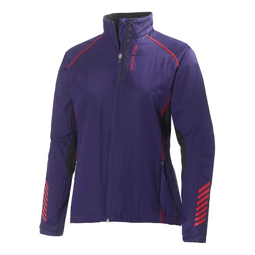 Womens Helly Hansen Pace Running Jackets - Noric Purple XS
