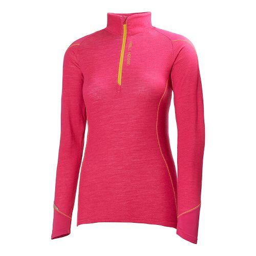 Womens Helly Hansen HH Warm Run Long Sleeve 1/2 Zip Technical Tops - Magenta XS ...