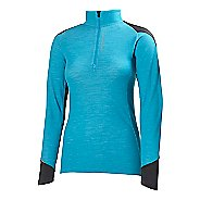 Womens Helly Hansen HH Warm Run Long Sleeve 1/2 Zip Technical Tops