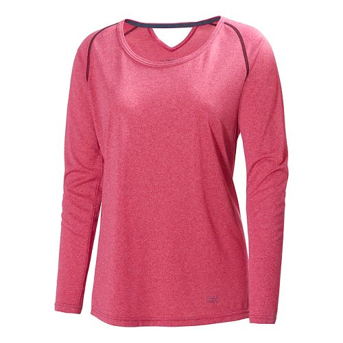Womens Helly Hansen Early Bird Long Sleeve No Zip Technical Tops - Azalea XS