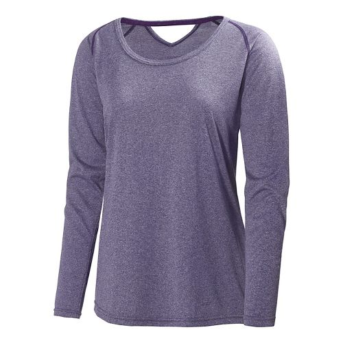Womens Helly Hansen Early Bird Long Sleeve No Zip Technical Tops - Noric Purple XL ...