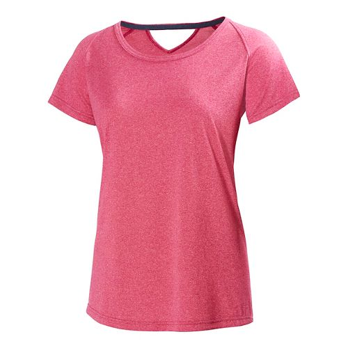 Womens Helly Hansen Early Bird Short Sleeve Technical Tops - Azalea M
