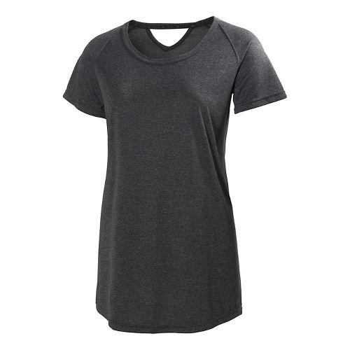 Womens Helly Hansen Early Bird Short Sleeve Technical Tops - Ebony XL