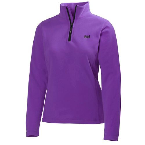 Womens Helly Hansen Daybreaker 1/2 Zip Fleece Long Sleeve Technical Tops - Sunburned Purple M ...