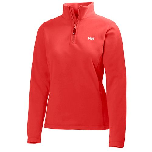 Womens Helly Hansen Daybreaker 1/2 Zip Fleece Long Sleeve Technical Tops - Neon Coral M ...