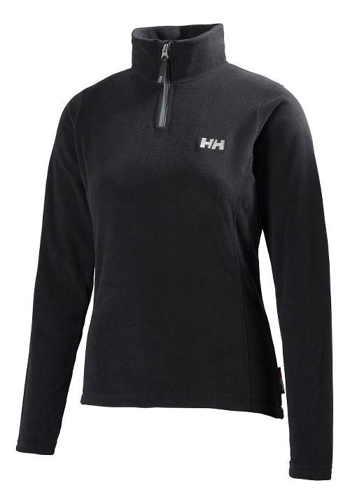 Womens Helly Hansen Daybreaker 1/2 Zip Fleece Long Sleeve Technical Tops - Black 4X