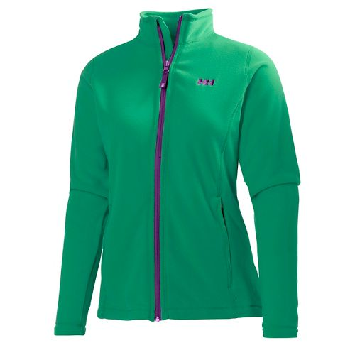 Womens Helly Hansen Daybreaker Fleece Jacket Running Jackets - Bright Green L