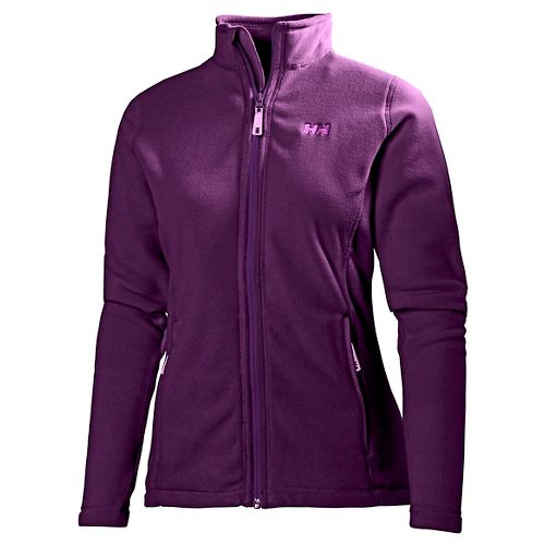 Womens Helly Hansen Daybreaker Fleece Jacket Running Jackets - Dark Violet S