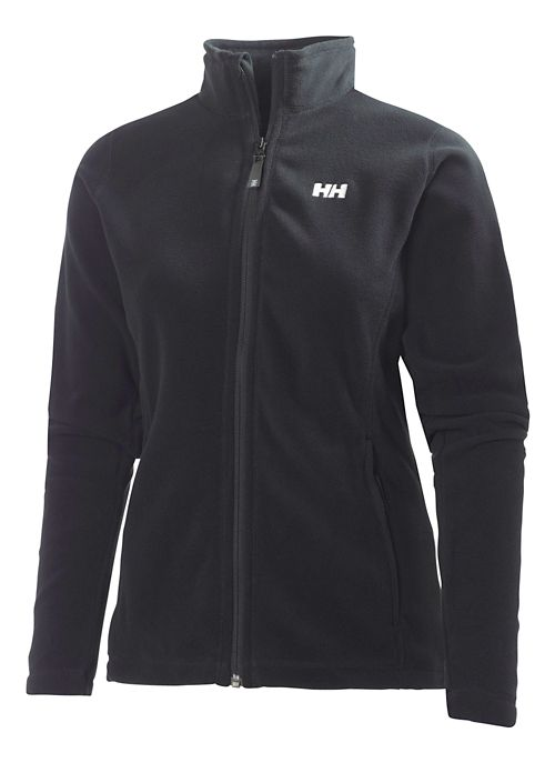 Womens Helly Hansen Daybreaker Fleece Jacket Running Jackets - Black 3X