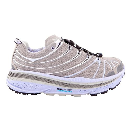 Womens Hoka One One Stinson Trail Running Shoe - Grey/Lavender 9