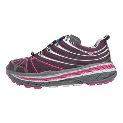 Womens Hoka One One Stinson Trail Running Shoe - Purple/White 9