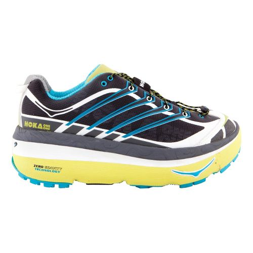 Mens Hoka One One MAFATE 3 Trail Running Shoe - Anthracite/Lime 8