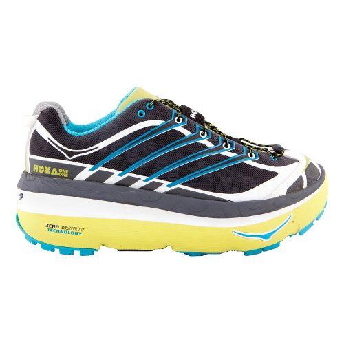 Mens Hoka One One MAFATE 3 Trail Running Shoe - Anthracite/Lime 8.5