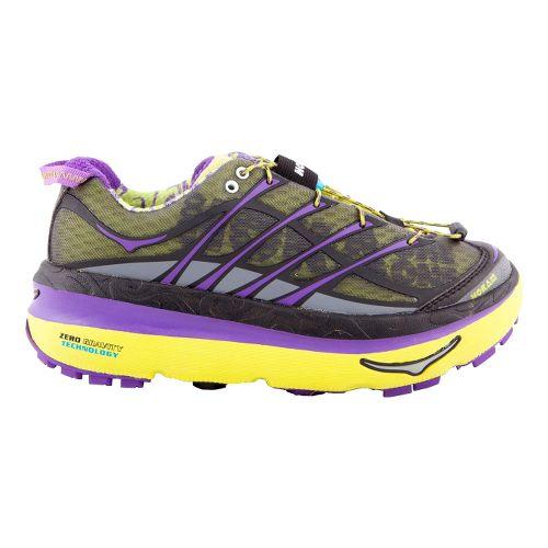 Womens Hoka One One Mafate 3 Trail Running Shoe - Lime/Purple 9