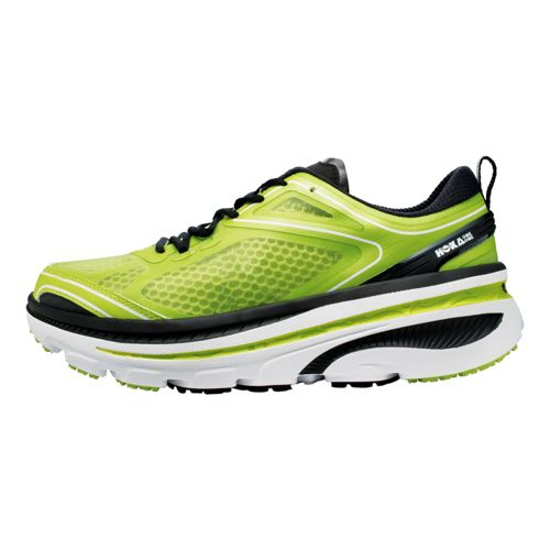 Mens Hoka One One Bondi 3 Running Shoe - Lime/Black 10.5