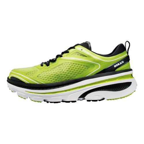 Mens Hoka One One Bondi 3 Running Shoe - Lime/Black 13
