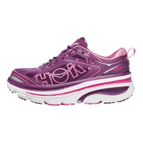 Womens Hoka One One Bondi 3 Running Shoe - Plum/White 9.5