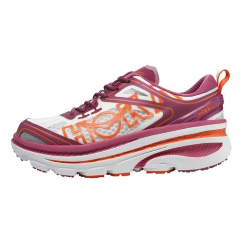 Womens Hoka One One Bondi 3 Running Shoe - Purple/White 7.5
