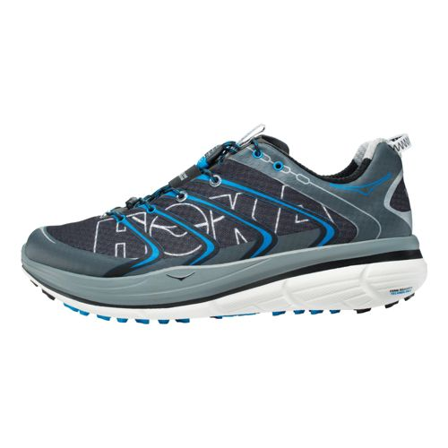 Mens Hoka One One Rapa Nui 2 Tarmac Running Shoe - Black/Blue 8