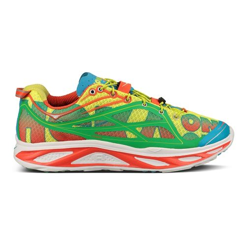 Mens Hoka One One Huaka Running Shoe - Orange/Green 9