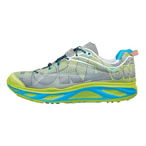 Mens Hoka One One Huaka Running Shoe - Lime/Anthracite 11