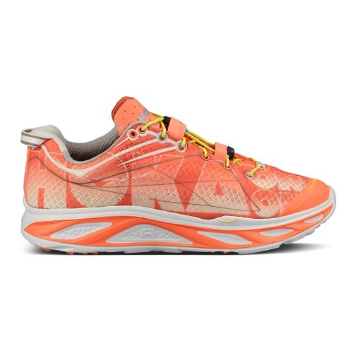 Womens Hoka One One Huaka Running Shoe - Coral/White 8.5