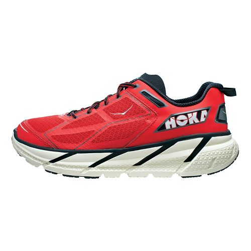 Mens Hoka One One Clifton Running Shoe - Red/Black 12