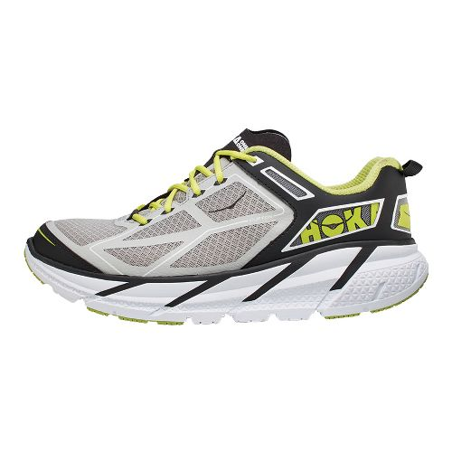Mens Hoka One One Clifton Running Shoe - Grey/Black 11