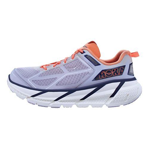 Womens Hoka One One Clifton Running Shoe - Lavendar/Coral 6.5